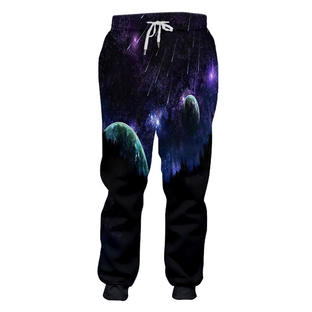 Herbst Frühling Männer/Frauen Casual Voller Länge Hosen Haren Galaxy Space 3D Printed Trainingshose Hip Hop Sweatpants