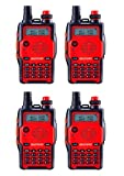 Baofeng UV-5R 5th Generation 136-174/400-520mHZ Two Way Radio Professional FM Transceiver(Red,Pack of 4)