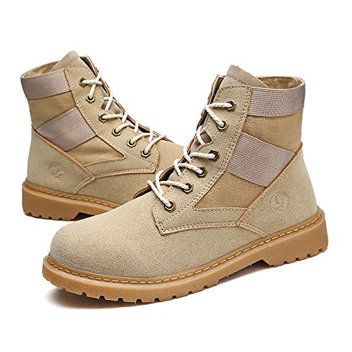 42 W amp;TT Stivali And Tooling Beige Di Stivali Paio Desert Martin Shoes Men Militari All'aperto Gray For Women Farwxrnq