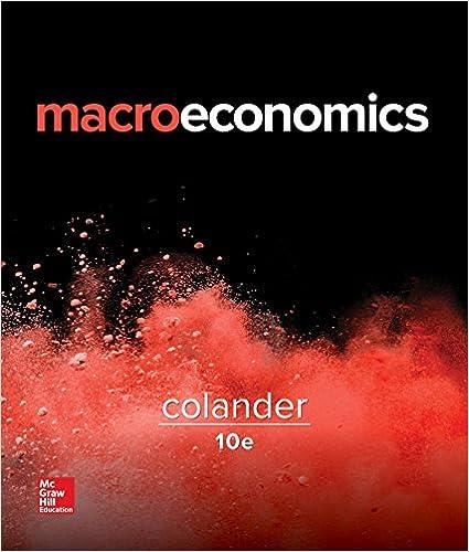 Macroeconomics (Mcgraw-Hill Series in Economics) David Colander