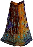 Fashion of India Free Size Indian Rayon Skirt Rock Gypsy Kjol Jupe Retro Falda Women Hippie