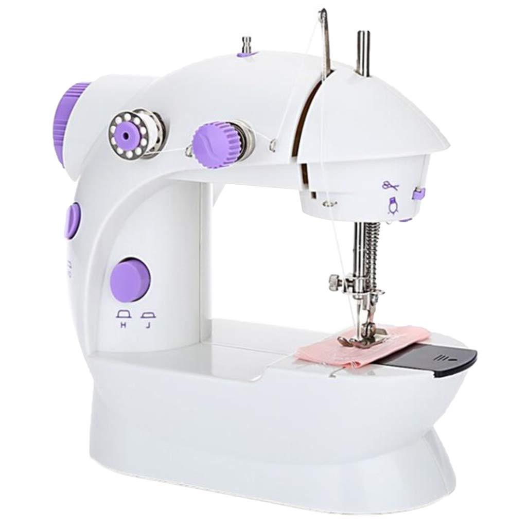 EU Stecker Baoblaze N/ähmaschine elektrische Mini N/ähmaschine Haushalt Desktop mit Beleuchtung und Fadenabschneider f/ür Anf/änger Schneider