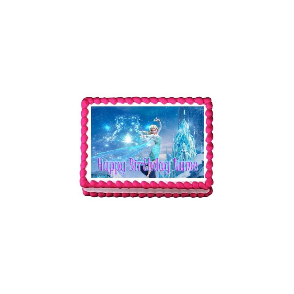 Edible Cake Topper Frozen Elsa 31 Personalizable
