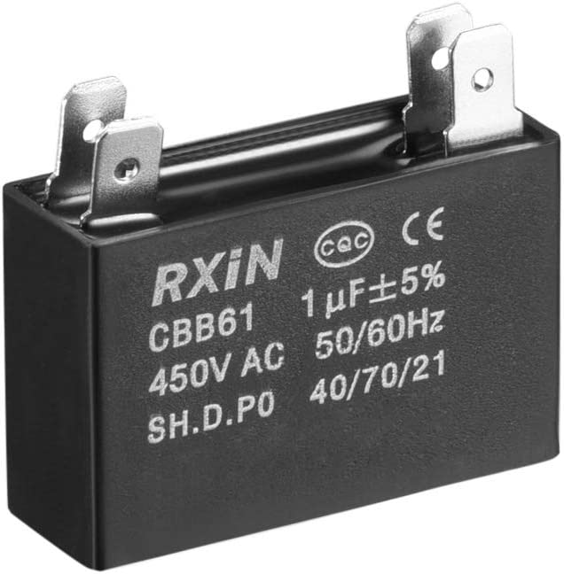 sourcing map 2 St/ück CBB61 Betriebskondensator 450V AC 3.5uF 2 Kabel f/ür Deckenventilator de