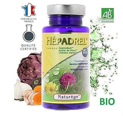 hépadrel – 90 Cápsulas de 400 mg – détox del hígado – Albura de tilo,