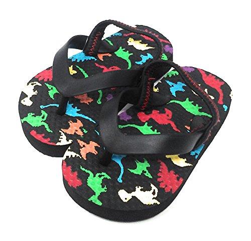 Toddler Boys Printed Dinosaur Beach Flip Flop (Boys Printed Flip Flops)