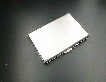 Caja de tarjeta de memoria de acero inoxidable para tarjetas SD y Micro SD con etiquetas, protector de tarjeta portátil para 8 tarjetas SD y 8 ...