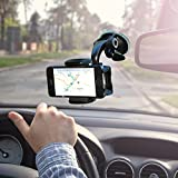 Cell Phone Holder for Car as Strong Suction iPhone Holder for Windshield From Zufy Offers Fully Adjustable 360 Rotation Compatible with All Smartphones iPhone, Galaxy,Nexus,HTC,Lumia.
