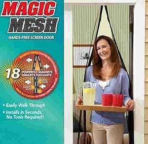 Magnético puerta cortina para puerta Red mosquitera Magic Mesh