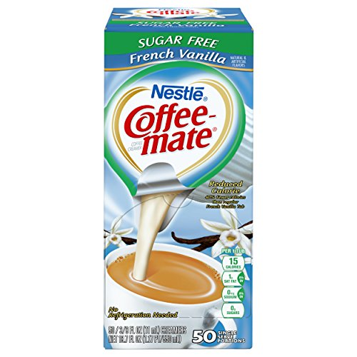 NESTLE COFFEE-MATE Coffee Creamer, Sugar Free French Vanilla, liquid creamer singles, Pack of 50 by Nestle Coffee Mate (Image #1)