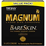 Trojan Mangum Bareskin Lubricated Condoms, 24 Count