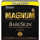 Trojan Mangum Bareskin Lubricated Condoms, 24 Count