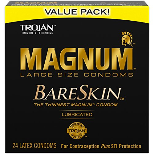 Trojan Mangum Bareskin Lubricated Condoms, 24 Count by Trojan
