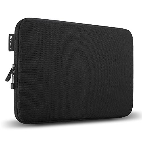 Runetz - 13-inch BLACK Soft Sleeve Case for NEWEST MacBook Pro 13'' & MacBook Air 13'' Laptop Cover - Black by Runetz
