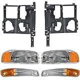 2001 gmc sierra headlight bracket - Headlight Parking Light Lamp Mounting Bracket Kit RH LH for 99-07 Sierra