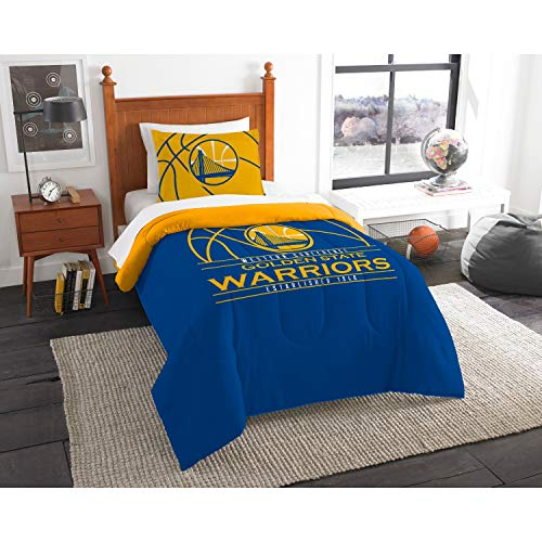 The Northwest Company Officially Licensed NBA Golden State Warriors Reverse Slam Twin Comforter and Sham