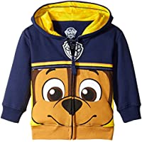 Nickelodeon Boys' Toddler Paw Patrol Character Big Face Zip-up Hoodies
