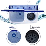 ROVSUN 16.6 LBS Portable Twin Tub Washing