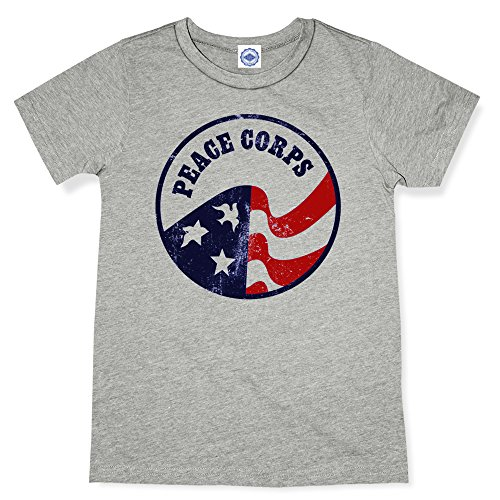 Hank Player U.S.A.. Vintage Peace Corps Logo Men's T-Shirt (XL, Heather (Corp Logo T-shirt)