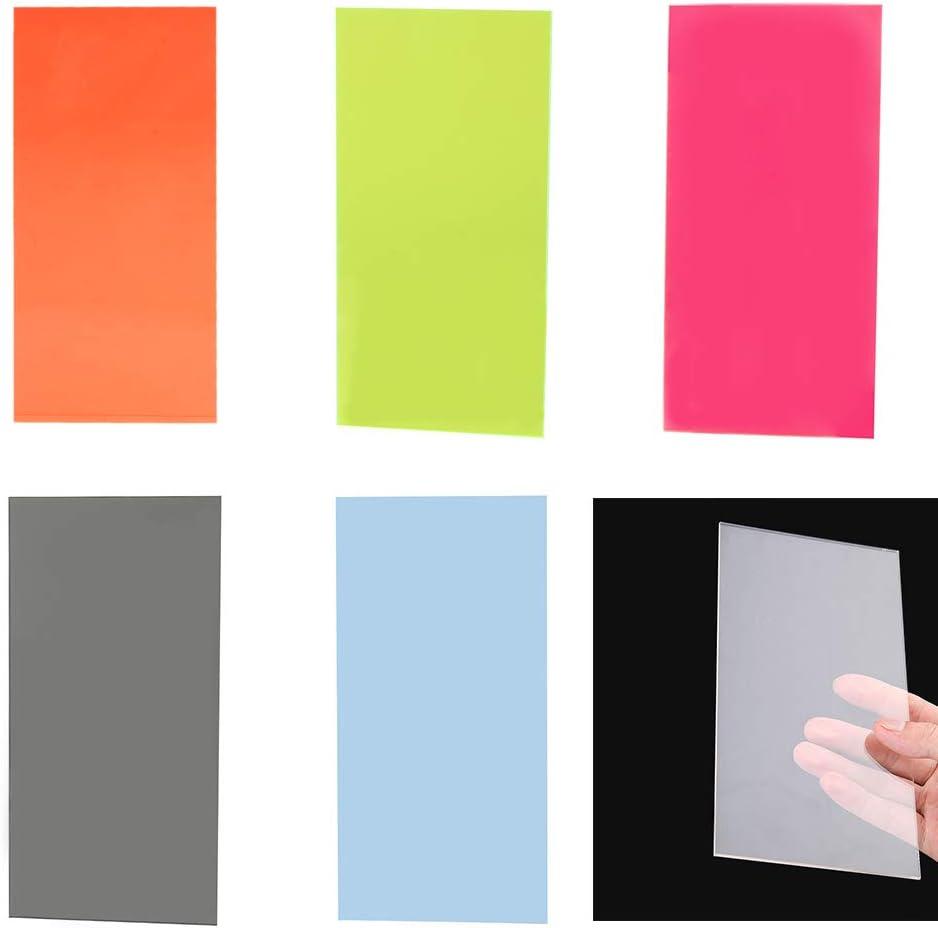 BIlinli 10/×20cm Plexiglass Board Colored Acrylic Sheet DIY Toy Accessories Model Making