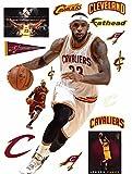 Lebron James FATHEAD Cleveland Cavaliers Logo Set Official NBA Vinyl Wall Graphics LIFE-SIZE, OVER 6' FEET TALL!