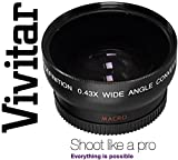 Vivitar HD4 Optics Wide Angle With Macro Lens For Nikon D3400 D5600 (55mm Compatible)