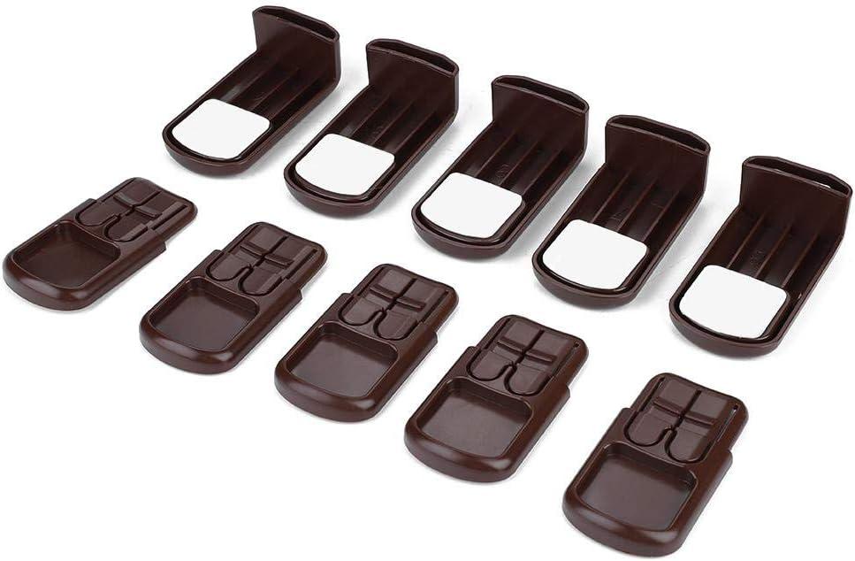 5pcs verrou de s/écurit/é pour b/éb/é adh/ésif armoire verrouille la s/écurit/é des enfants pour les tiroirs et armoires b/éb/é preuve Noir