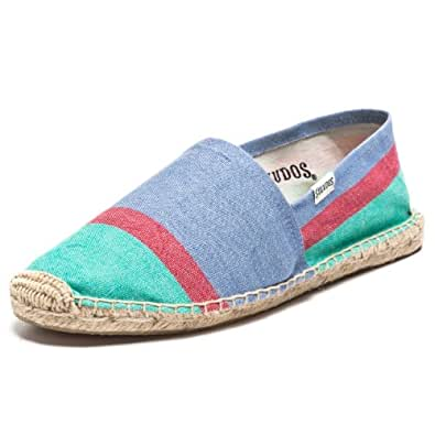 Soludos Women's Color Block Shoes, Mint/Coral/Blue, 38