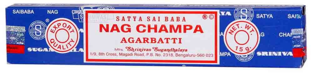 Satya Sai Baba Nag Champa Incense in the Small Box of 15 grams