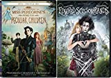 Visionary Director Tim Burton Edward Scissorhands DVD + Miss Peregrine's Home for Peculiar Children Fantasy 2 film Double Feature Bundle