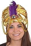Jacobson Hat Company Women's Metallic Arabian Prince Princess Hat, Gold, Adult