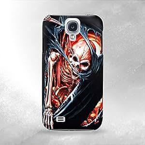 Hardcore Skull Hell Rock - Samsung Galaxy S4 i9600 Back Cover Case - Full Wrap Design