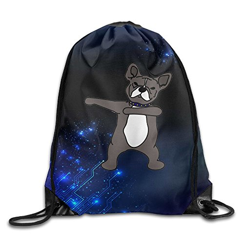 Price comparison product image MissMr Frenchie Dog Belt Backpack, Fashion Trend,  Polyester Sports Bag, Net Red Part, Men's Handbag, Ladies, Teenager, Adult, Outdoor Work, Office, Lunch Box