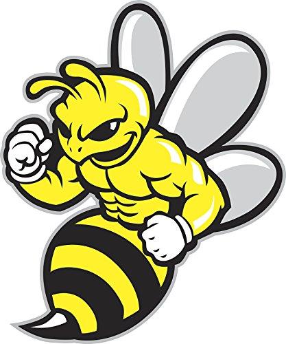 Buff Fit Buzzing Bumble Bee Cartoon Mascot Vinyl Decal Sticker (8