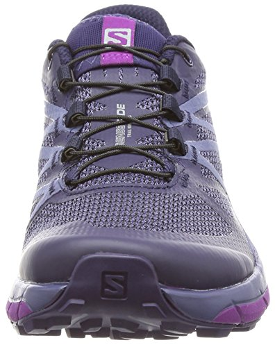 Salomon Sense Ride Trail Running Shoe - Women's Evening Blue/Crown Blue/Grape Juice 6 by Salomon (Image #4)