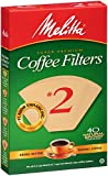 MELITTA Natural Bamboo #2 Super Premium Cone Filters, Cone Coffee Filters, Replacement Filters, Coffee Maker Filters, 40 Count