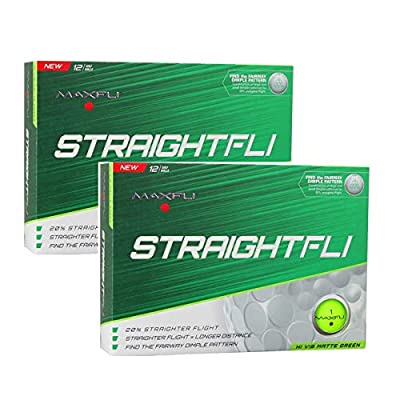Maxfli StraightFli Golf Balls - Longer Straight Flight Distance