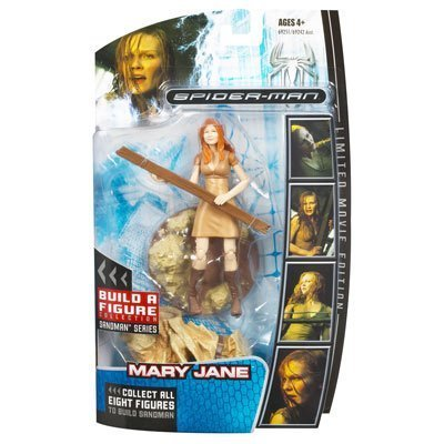 SPIDERMAN   SPIDERMAN  Limited Movie Edition  BUILD A FIGURE COLLECTION  Sandman Series  MARY JANE  Action Figure by HASBRO