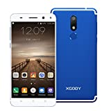 Xgody D22 5.5'' Android 7.0 Nougat with Fingerprint 4G FDD-LTE Smart Phone Unlocked MTK6737 Dual Camera (13MP+5MP) GPS WIFI HD Screen Cellphone Unlocked (Blue)