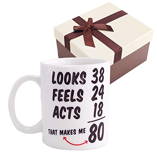 Funny 1938 80th Birthday Gifts Ideas Mug For Men And Women Best Novelty Ceramic Coffee Mugs