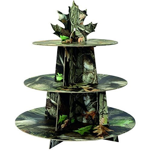 Camo Cardboard Cupcake Stand (Holds 24 Cups, Easy Assembly) Hunting Camo Party Collection by Havercamp -