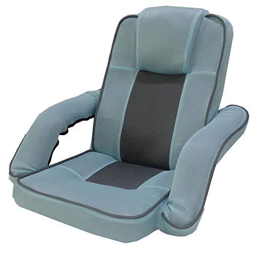 DLLzq Lounge Sofa Bed,Folding Floor Lounger Sleeper Futon Mattress Seat Chair Bay Window Sofa,SkyBlue+Silvergray