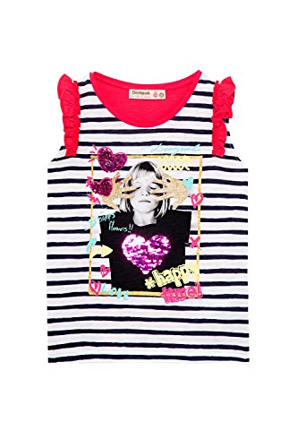 Desigual Ts Fucsia Canotta Girl Escocia shirt senza T 18sgtk82 maniche rnYr1qPw