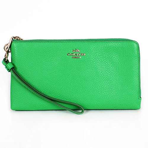 Coach Pebble Leather Double Wallet