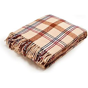 "Arus Highlands Collection Tartan Plaid Design Throw Blanket Sahara 60""x80"""