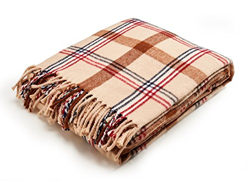 Arus Highlands Collection Tartan Plaid Design Throw Blanket Sahara 60