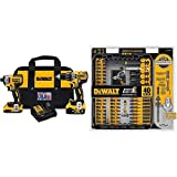 DEWALT DCK287D1M1 20V Cordless Hammerdrill and Impact Driver Combo Kit with DWA2T40IR IMPACT READY FlexTorq Screw Driving Set, 40-Piece
