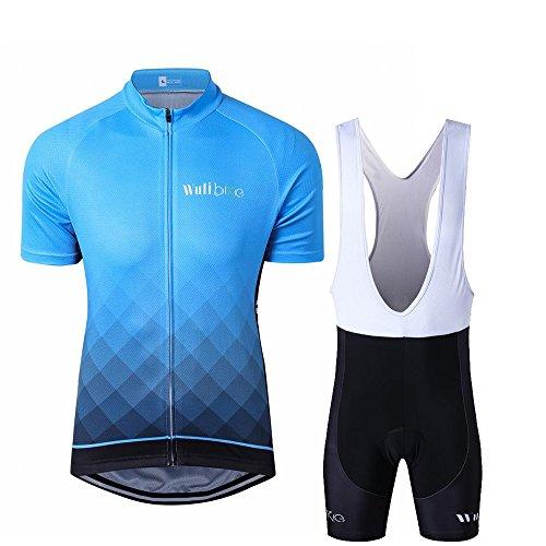 Inbike Cycling Team Kit Men/'s Road Bike Clothing Summer Jersey Bib Shorts Set