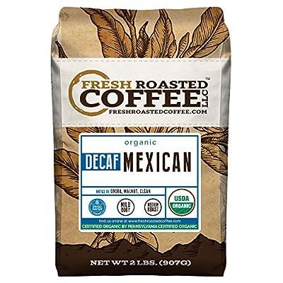 Fresh Roasted Coffee LLC, Organic Decaf Mexican Chiapas Coffee, Medium Roast, Swiss Water Decaffeinated, USDA Organic