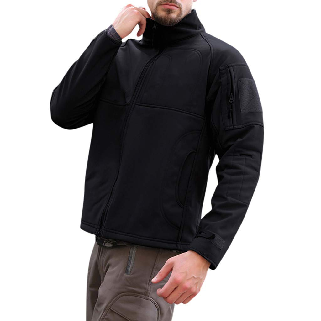 Tactical Windbreaker,ONLT TOP Men Tactical Army Breathable Hooded Coat Outdoor Windbreaker Sport Jacket